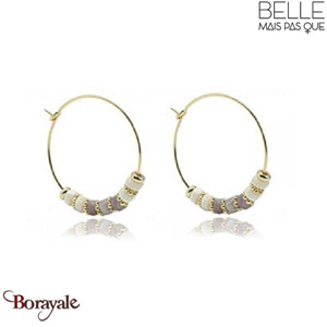 Boucles d'oreilles -Belle mais pas que- collection Mila Tourmaline rose