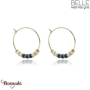 Boucles d'oreilles -Belle mais pas que- collection Mila lapis Lazuli