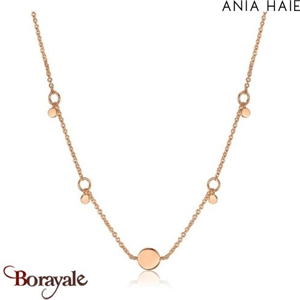 Géometry Class, Collier Argent Plaqué OR rose ANIA HAIE N005-03R