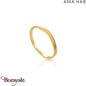Modern Minimalism, Bague  Argent Plaqué OR ANIA HAIE R002-03G-52