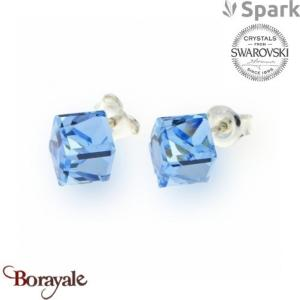 Boucles d'oreilles SPARK collection cube made with Swarovski Elements A58A