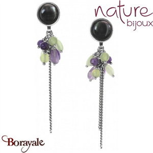 Collection Nymphéas, Boucles d'oreilles NATURE Bijoux 12--28503