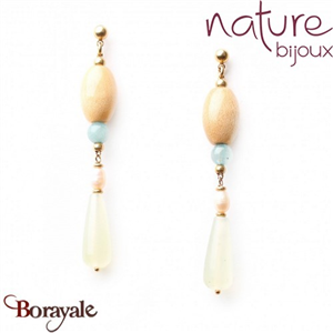 Collection Danube, Boucles d'oreilles Nature Bijoux 12--73008
