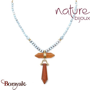 Collection Wood Diamonds, Collier Nature Bijoux 15--40403