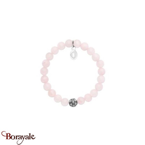 bracelet perles mixte, Quartz rose Shark'N Stone