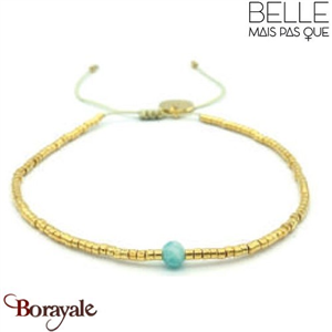 "Bracelet ""Belle mais pas que"" collection Golden Blue Lagoon BNA-790-GBL"