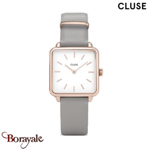 Montre Cluse La Tétragone Rose Gold White/Stone Grey CL60005-CW0101207004
