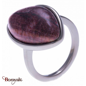 Bague jaspe rouge, Collection: Galet YOLA