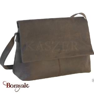 Besace - gibecière en cuir de Buffle KASZER, Collection Kansas (20056-C6)