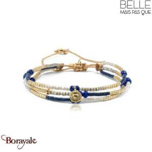 Bracelet -Belle mais pas que- collection Golden Deep Blue B-1725-GODEEP