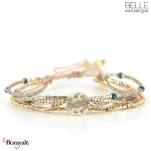 bracelet -Belle mais pas que- collection Gold Pastel Green B-1816-PASTL