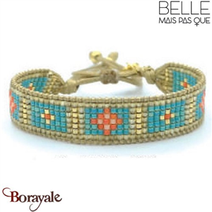 "Bracelet ""Belle mais pas que"" Collection Golden Caraïbes B-1175-GC"