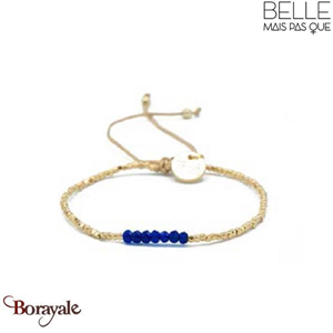 Bracelet -Belle mais pas que- collection Golden Deep Blue B-1728-GODEEP