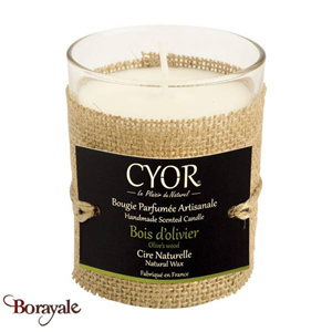 Bougie Parfumée CYOR Bois d'olivier: Made in France