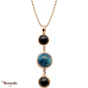 Collier onyx , apatite et onyx, Collection: Cabochon YOLA
