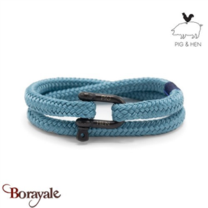 Bracelet PIG AND HEN Salty Steve Sky Blue Black Taille L