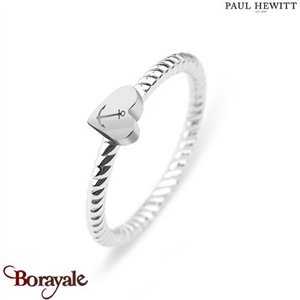 Bague Anchor Love Acier/Coeur Acier - Taille 54  PAUL HEWITT Collection Anchor