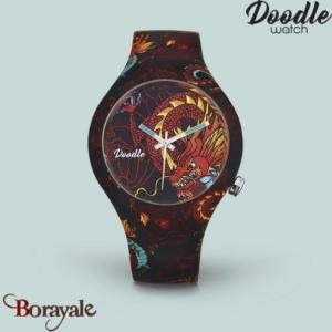 Montre DOODLE DRAGON MOOD JAUNE Ø39mm