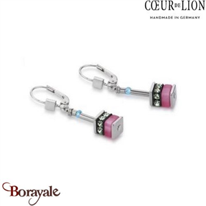 Nuance : 1522, Boucles d'oreilles Cœur de lion with SWAROVSKI Elements bijoux