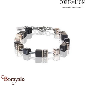 Nuance : 1300, Bracelet Cœur de lion with SWAROVSKI Elements et Onyx