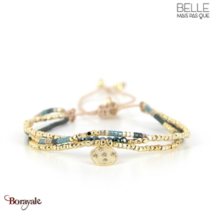 bracelet -Belle mais pas que- collection Gold Pastel Green B-1795-PASTL