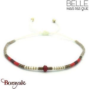 "Bracelet ""Belle mais pas que"" collection Golden rouge B-893-GRO"
