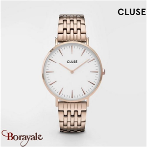 Montre Cluse La Bohème Multi-Link, Rose Gold, White/Rose Gold CW0101201024