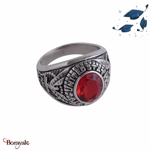 Bague Universitaire américaine Air Force rouge