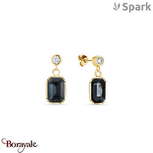 Boucles d'oreilles SPARK with Swarovski : Royal - Graphite