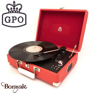 Record players GPO Attaché Case Rouge