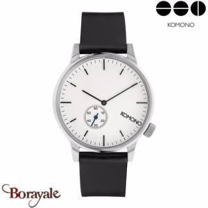 Montre KOMONO Collection WINSTON SUBS SILVER WHITE KOM-W3002
