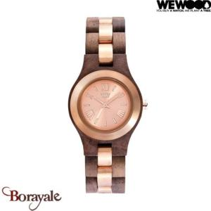 Montre en bois WEWOOD Criss premium Nut Rough Rose 70233-727