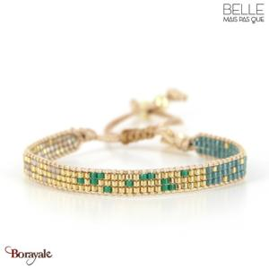 bracelet -Belle mais pas que- collection Green Passion Gold B-1541-GRPASS