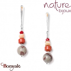 Collection Desertigo, Boucles d'oreilles Nature Bijoux 12--72097
