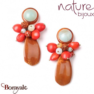 Collection Broceliande, Boucles d'oreilles Nature Bijoux 12--72223