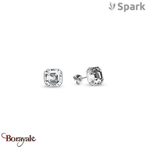 Boucles d'oreilles SPARK with Swarovski : Imperial - Cristal blanc