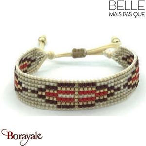 "Bracelet ""Belle mais pas que"" collection Golden rouge B-1008-GRO"