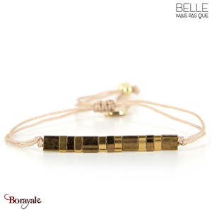 bracelet -Belle mais pas que- collection Golden Almond B-1803-ALMD