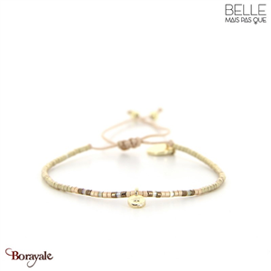 bracelet -Belle mais pas que- collection Golden Almond B-1828-ALMD