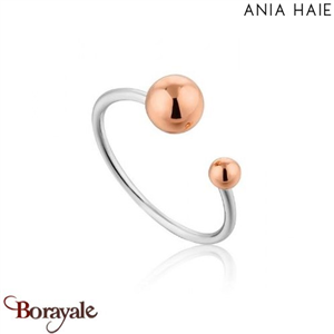 Out Of This World, Bague Argent Rhodié et Or rose ANIA HAIE R001-03T