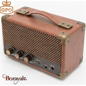 Mini Westwood Speaker GPO RETRO marron