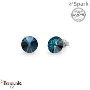 Boucles d'oreilles SPARK with Swarovski : Sweet Candy 8mm - Bleu Montana