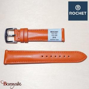 Bracelet de montre Rochet , New York de couleur : orange, 18 mm