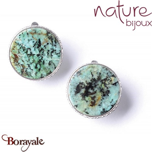Collection Wemba, Boucles d'oreilles NATURE Bijoux 11--76173