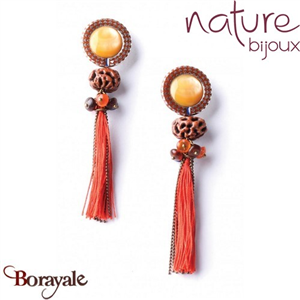 Collection Mahajamba, Boucles d'oreilles NATURE Bijoux 11--76373