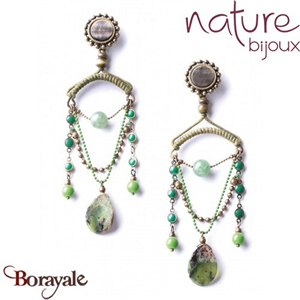 Collection EMERALD, Boucles d'oreilles Nature bijoux 12--25772