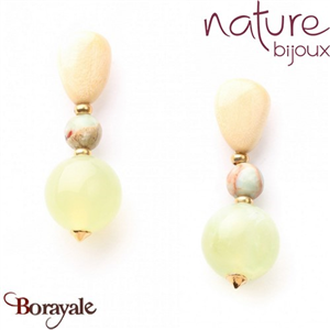 Collection Danube, Boucles d'oreilles Nature Bijoux 12--73006