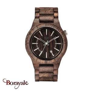 Montre en bois WEWOOD Assunt choco rough 70321-511