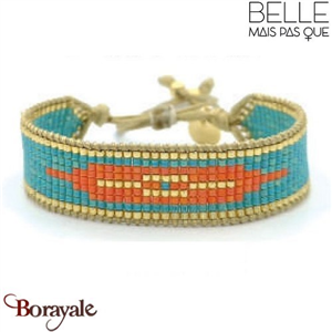 "Bracelet ""Belle mais pas que"" Collection Golden Caraïbes B-1356-GC"