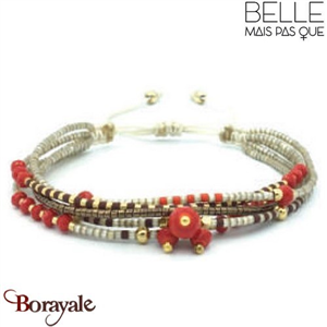 "Bracelet ""Belle mais pas que"" collection Golden rouge B-973-GRO"